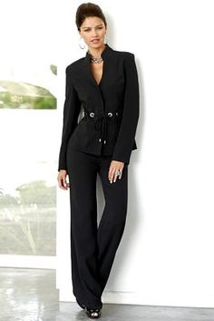 Career Wear Suit for Professional Women. this would get my attention when she spoke.