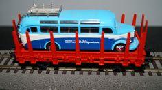 Märklin Rungenwagen, WS, mit Oldtimerbus O-3500 neuwertig, H0, ansehn   eBay
