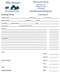 Catering Invoice Sample 10 Doents In Pdf