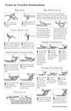Learn to Crochet Instructions Slip Knot Slip Stitch sl stRésultat d'images pour free printable crochet stitch guideStylish instructions on how to crochet free crochet instructions - how to crochet ii JBBTWCKAfter you learn the basic crochet stitch Crochet Gratis, Free Crochet, Knit Crochet, Crotchet, Slip Knot Crochet, Crochet Ripple, Crochet Stitches Chart, Crochet Symbols, Crochet Abbreviations