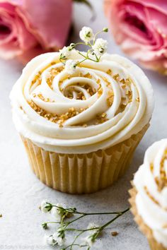Wedding Cupcakes with Champagne Frosting - Sallys Baking Addiction