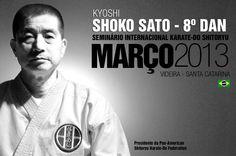 Seminário Karate-do Shitoryu com Kyoshi Shoko Sato, março 2013, Videira - SC - Brasil