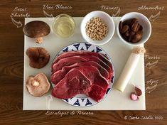 Escalopes de Ternera en Salsa de Almendras con Shiitake y Piñones   Mise en Place Food, Arrows, Almonds, Diners, Tasty, Domingo, Mise En Place, Essen, Meals