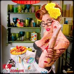 I love all things pinup,add a dash of zombie for fun. :)