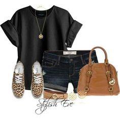 Love the tennie shoes & bag!