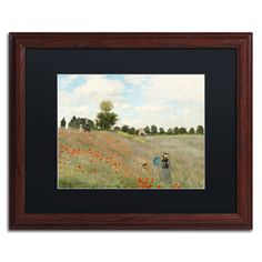 'Wild Poppies Near Argenteuil' by Claude Monet Framed Painting Print
