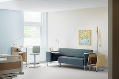 Palisade is a collection of furniture for hospital rooms creating a comfortable and responsive atmosphere and makes family feel connected to the patient