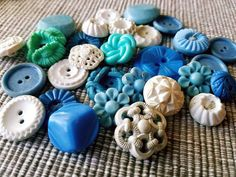 Check out this item in my Etsy shop https://www.etsy.com/listing/515703952/vintage-buttons-cottage-chic-mix-of-blue