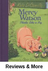 Mercy Watson Thinks Like a Pig by Kate DiCamillo | After Mercy Watson follows the delightful scent and delicious taste of the pansies her thoughtful neighbors plant to beautify their yard, animal control officer Francine Poulet is called out to handle the case, which brings unexpected results.