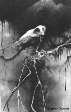 Illustration from the Scary Stories to Tell in the Dark series.  Read it as a kid.  Illustrations drawn by Stephen Gammell.