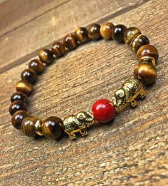 Elephant Bracelet, womens beaded bracelet, bracelet, unisex jewelry, b… Hand Bracelet, Bracelet Making, Jewelry Making, Yoga Bracelet, Bracelet Men, Bracelet Watch, Spiritual Jewelry, Yoga Jewelry, Hippie Jewelry