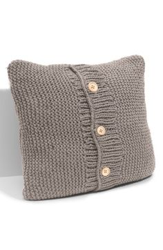 Free shipping and returns on Nordstrom Chunky Knit Decorative Pillow at Nordstrom.com. Three wooden buttons dot the front of a substantial knit pillow.