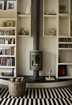 Modern Woodburner - Small Extension In A New Build Property