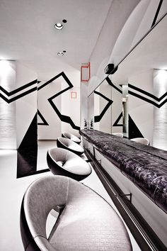 Druckwelle Hairdresser - Interior Design & Mural Painting | with Permanent-Unit by Gernot Passath