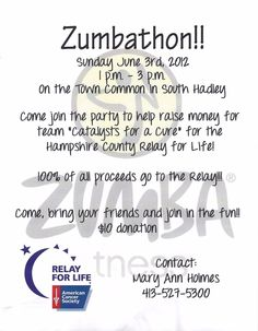 Come join the party - support Hampshire County's Relay for Life....