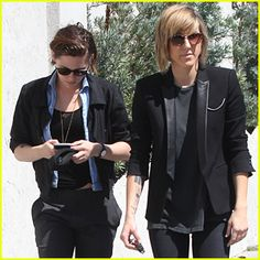Kristen Stewart & Alicia Cargile Switch Up Their Outfits in L.A.
