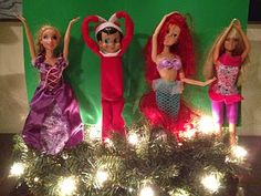 YMCA Elf and Barbies... 10 cute Elf on the Shelf & barbie ideas
