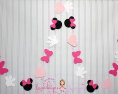 Minnie Mouse Garlands set of pink VERTICAL, Minnie Mouse Birthday garland, minnie mouse decoration, nursery or playroom Minnie Mouse Birthday Decorations, Minnie Birthday, Baby First Birthday, 2nd Birthday Parties, Birthday Cakes, Minnie Mouse Baby Shower, Minnie Mouse Party, Birthday Garland, Pink Minnie