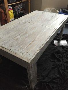 Nice Simple, Rustic Pallet Coffee Table #coffeetable #homedécor #livingroom…