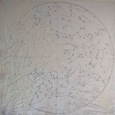 "DIY Constellation Quilt: Sew your own massive 72"" x 72"" map of the stars. This bed-sized quilt project makes a thoughtful gift or keepsake; personalize your map with embroidered details like a French knot Milky Way or the names of your favorite constellations. Select from designs of the Northern Hemisphere or Southern Hemisphere. The basic 72"" DIY kit includes a single-use, two-panel map template of the stars and sewing instructions. Purchase your quilt fabric, batting and thread separately."