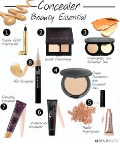 Great list of concealers, all fabulous.  My fav right now is the Tarte creaseless concealer (7), covers and holds.