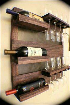Wine & Glass Rack