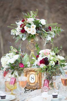 Romantic Blush, Marsala and Gold Wedding Ideas