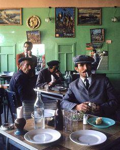 Turkish men having lunch in restaurant of Nevsehir named Lokanda 1970. Photograph by Bill Ray. https://t.co/Ez7G6jVals