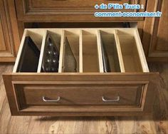 Rangement tiroir astucieux pour cuisine