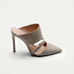 LE FASHION BLOG SHOE CRUSH ALTUZARRA MULE THE LINE SHELL TAN NUDE SUEDE BANDED HEELED MULE PUMPS VANESSA TRAINA SPRING SUMMER SS 2014 5 phot...