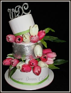 Tulip Topsy Turvey Wedding Cake | Flickr - Photo Sharing!