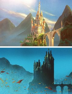 Disney Challenge, Day 7: Favorite castle? - The Beast's of course! It's enchanted, plus that ballroom and library!