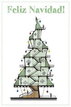 27 postales navideñas diseñadas por nuestros lectores Company Christmas Cards, Business Christmas Cards, Christmas Messages, Christmas Deco, Holiday Cards, Xmas Greeting Cards, Xmas Greetings, Origami Xmas Cards, Christmas Graphic Design