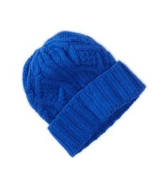 AEO Cabled Beanie // Hukk to find out when it goes on sale! Mens Beanie Hats, Men's Beanies, It Goes On, Pin Cushions, Blue Sapphire, Knitted Hats, American Eagle Outfitters, Winter Hats, Man Shop