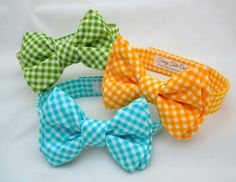 Sunshine Yellow Gingham Bow Tie for Dog or Cat by FurryTaleCouture Dog Restaurant, Dog Clothes Patterns, Dog Crafts, Dog Items, Cat Accessories, Dog Bows, Dog Pattern, Dog Sweaters, Dog Dresses