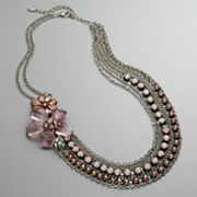 @ Kohl's NOW  Simply Vera Vera Wang Two Tone Flower Swag Necklace   Original $38.00 Sale $22.80