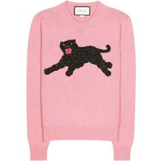 Discover Gucci shoes, bags, clothing and accessories. Shop online luxury whenever, wherever with Mytheresa. Red Long Sleeve Tops, Long Sleeve Sweater, Gucci Sweatshirt, Free T Shirt Design, Woolen Tops, Gucci Top, Pink Fashion, Gucci Fashion, Cozy Outfits