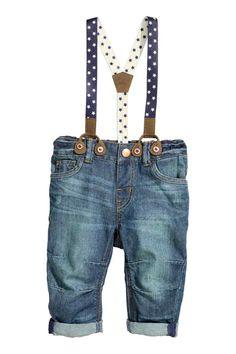 Jeans com suspensórios   H&M