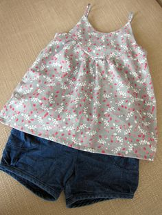 Oliver + S Puppet Show Shorts in denim