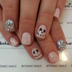 glitter acrylic nails for halloween : Nail Art Designs | Short | Easy | Polish