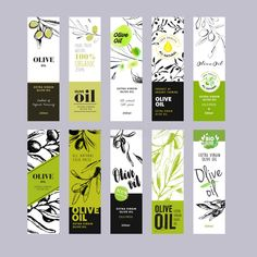 Food Packaging Design, Packaging Design Inspiration, Branding Design, Packaging Company, Olive Oil Brands, Olive Oil Packaging, Product Label, Hand Illustration, Grafik Design