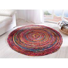 Teppich Harlekin, Flechtoptik, Baumwolle, Polyester Katalogbild