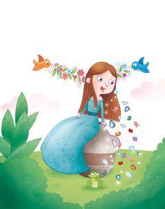 www.elisapaganelli.com #elliepage #elisapaganelli #tale #fairytales #frog #princess #magic #perrault #fairy #bird
