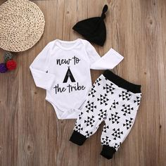 2016 Autumn style infant clothes baby clothing sets boy Romper +pants+hat suit baby boy clothes newborn - Kid Shop Global - Kids & Baby Shop Online - baby & kids clothing, toys for baby & kid Baby Outfits, Outfits With Hats, Newborn Outfits, Trendy Outfits, Kids Outfits, Summer Outfits, Fashion Outfits, Newborn Boy Clothes, Cute Baby Clothes
