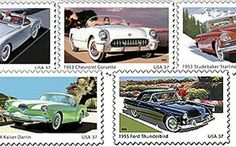 United States Postage Stamps | 50s Sporty Cars' Postage Stamps Roll Out Of Detroit - Motor Trend ...