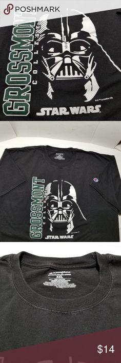 6085cab72b Champion Mens TShirt XXL Star Wars Grossman Col Grossman College/ Star Wars  logo , black