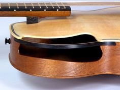 Lots of innovative features and design on Ken Parker archtop guitar Brownie.
