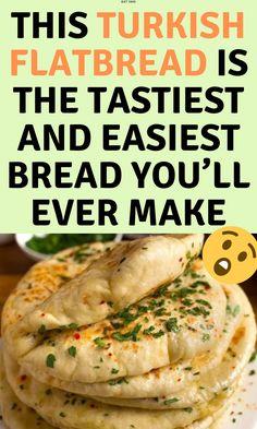 Vegetarian Recipes, Cooking Recipes, Healthy Recipes, Turkish Flat Bread, Tandoori Masala, Good Food, Yummy Food, Easy Bread, Flat Bread Recipe Easy