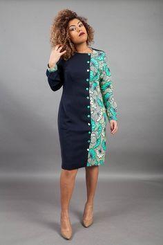 African Women's Clothing/ Dashiki women's dress / Ankara Short Gown / African Fabric Attire / Weddin - African Fashion Ankara, Latest African Fashion Dresses, African Inspired Fashion, African Print Fashion, Africa Fashion, African Style, Ghanaian Fashion, Short Gowns, African Dresses For Women