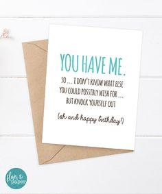Birthday Card Funny Boyfriend By FlairandPaper